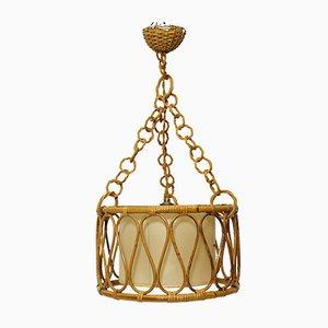 Rattan Ceiling Lamp, 1960s