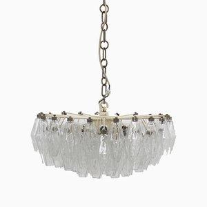 Lámpara de araña Poliedri vintage de Carlo Scarpa para Venini, años 60