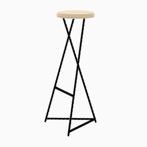 Steel and Birch Italic Stool from CRP.XPN