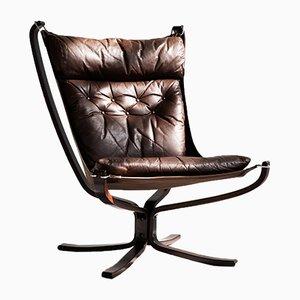 Falcon Chair mit hoher Rückenlehne von Sigurd Resell für Vatne Møbler, 1970er