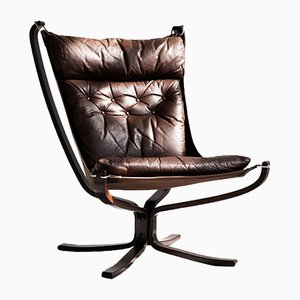 Highback Falcon Chair by Sigurd Resell for Vatne Møbler, 1970s
