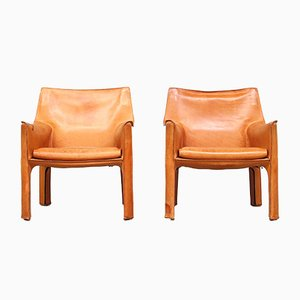 CAB Lounge Chairs by Mario Bellini for Cassina, 1980s, Set of 2
