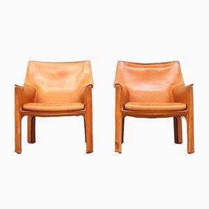 CAB Sessel von Mario Bellini für Cassina, 1980er, 2er Set