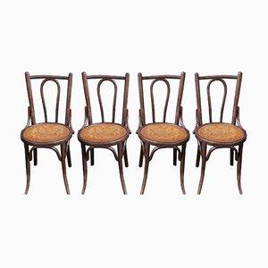 Chaises de Bistrot Vintage, Set de 4