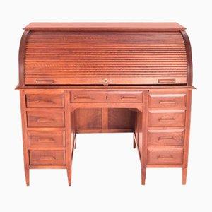 Industrieller Vintage Schreibtisch mit Rolltür