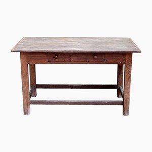 Tavolo antico in legno di castagno
