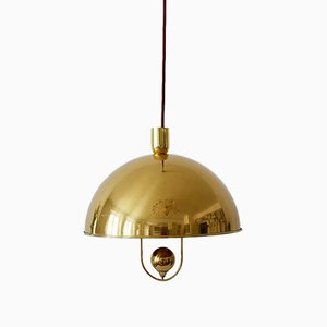 Mid-Century Brass Pendant by Florian Schulz, 1960s