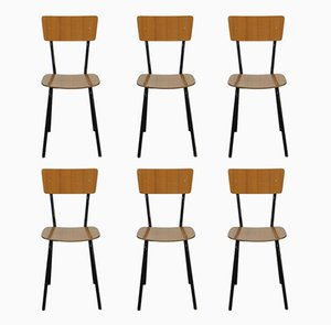 Vintage Italian Dining Chairs, 1970s, Set of 6