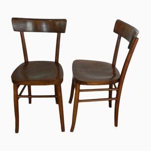 Vintage Italian Wooden Chairs, 1950s, Set of 2