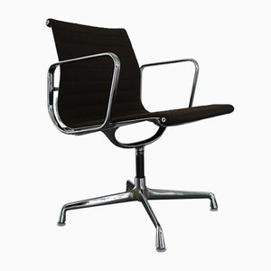 Chrome & Hopsack EA 108 Chair by Charles & Ray Eames for Vitra, 1970s