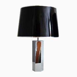 Lámparas de mesa Hollywood Regency de metal cromado de Ingo Maurer para Design M, años 70. Juego de 2