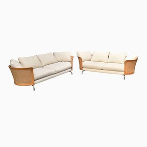 Virginia Sofa Living Room Set by Antonello Mosca for Giorgetti, 1980s