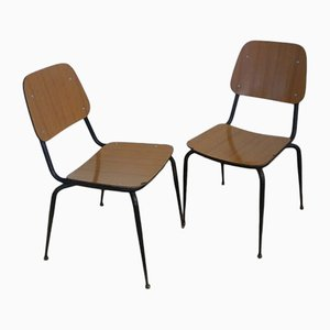 Vintage Italian Formica Chairs, 1950s, Set of 2