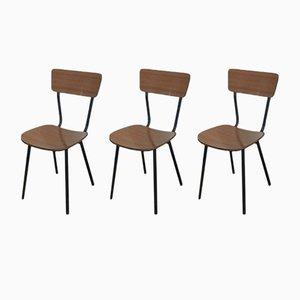 Italienische Vintage Stühle aus Resopal, 1970er, 3er Set