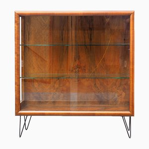 Vintage Caucasian Walnut Showcase, 1940s