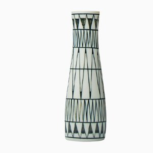 Vase mit geometrischem Muster von Brita Heilimo für Arabia, 1950er