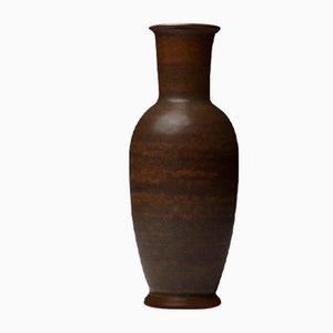 Brown Stoneware Vase by Erich & Ingrid Triller for Tobo, 1950s