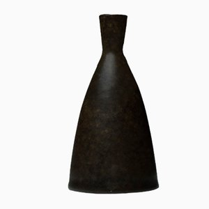 Brown Stoneware Vase by Erich & Ingrid Triller for Tobo, 1950s