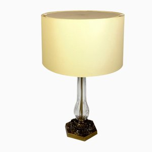 Regency Style Crystal Glass Table Lamp, 1970s
