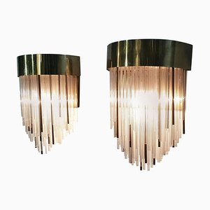 Vintage Italian Wall Sconces, 1970s, Set of 2