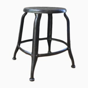 Raw Metal Workshop Stool from Nicolle, 1930s