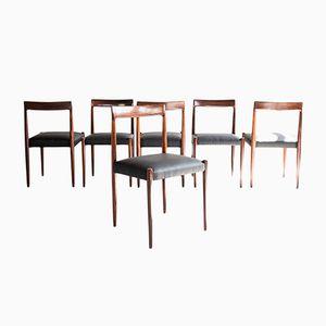Mid-Century Esszimmerstühle aus Palisander von Lübke, 6er Set