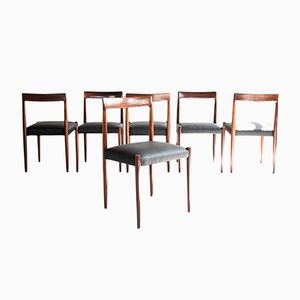 Mid-Century Rosewood Dining Chairs from Lübke, Set of 6