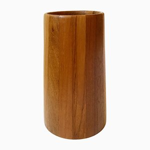 Solid Teak Umbrella Stand, 1960s
