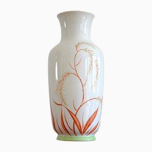 Jarrón modernista de porcelana de Heubach, años 20