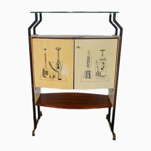 Mueble bar italiano vintage, años 50