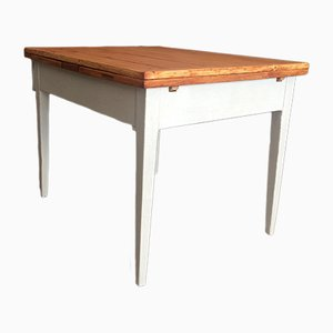 Antique Hardwood Extendable Table