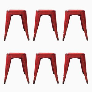 Vintage Stools by Xavier Pauchard for Tolix, 1950s, Set of 6