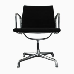 Aluminium & Hopsack EA 108 Chair by Charles & Ray Eames for Vitra, 1980s