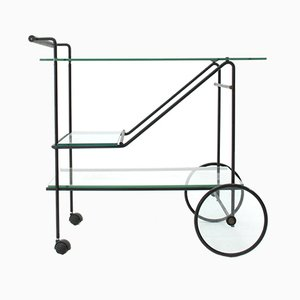 Metal and Glass Cart, 1980s