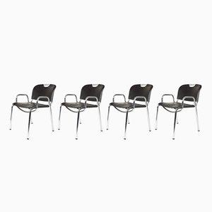 Modell 2062 Castiglietta Esszimmerstühle von Achille Castiglioni & Marcello Minale für Zanotta, 1960er, 4er Set