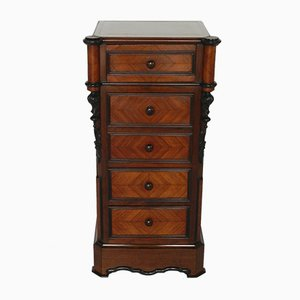 Antique French Rosewood Bedside Cabinet