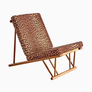 Dänischer Modell J58 Sessel mit Gestell aus Buche von Poul M. Volther für FDB Møbler, 1954