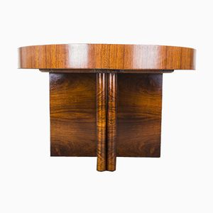 Large Round Art Deco Rosewood Table, 1930s