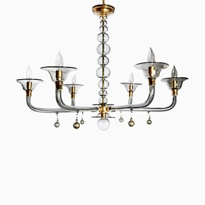 Mid-Century Murano Glass Chandelier from Venini, 1970s