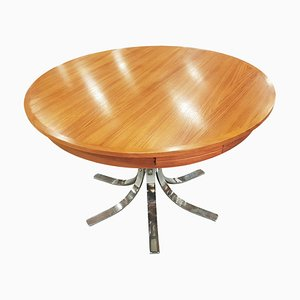 Flip Flap Extendable Teak Table from Dyrlund, 1960s