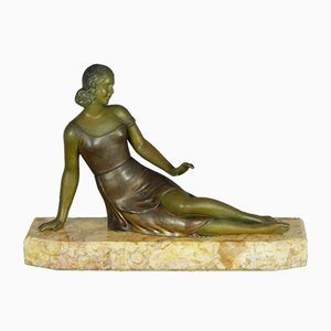 Escultura francesa Art Déco de Salvatore Melani, años 30