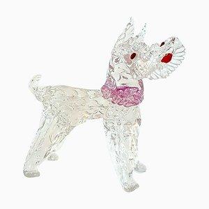 Figura de perro vintage de cristal de Murano de Ercol Barovier para Barovier & Toso