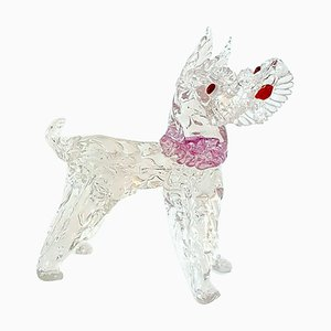 Statuetta vintage a forma di cane in vetro di Murano di Ercol Barovier per Barovier & Toso