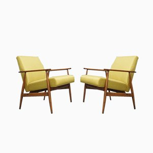 Model 300-190 Lounge Chairs by H. Lis for Bystrzyckie Fabryki Mebli, 1960s, Set of 2