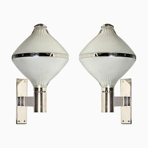 Mid-Century Silver-Plated Sconces by Sergio Mazza for Artemide, Set of 2