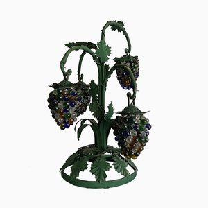 Vintage Grapes & Leaves Table Lamp with 4 Lights