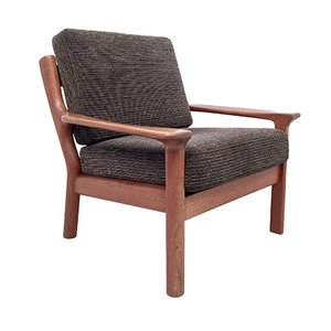 Vintage Danish Solid Teak Lounge Chair by Juul Kristensen for Glostrup