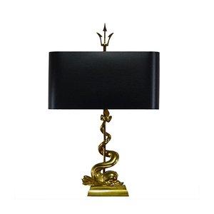 Lámpara de mesa Trident, años 50