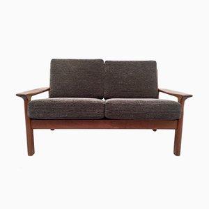 Dänisches Vintage 2-Sitzer Sofa aus massivem Teak von Juul Kristensen für Glostrup