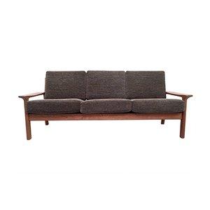 Vintage Danish Solid Teak 3-Seater Sofa by Juul Kristensen for Glostrup